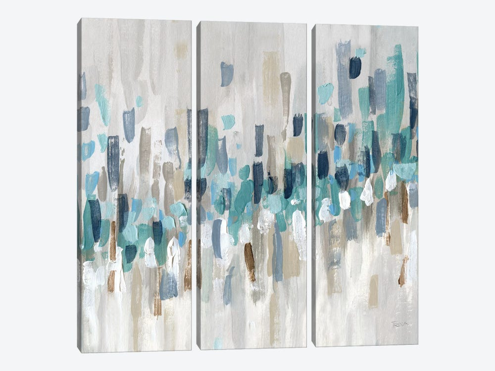 Staccato Blue II by Katrina Craven 3-piece Canvas Art