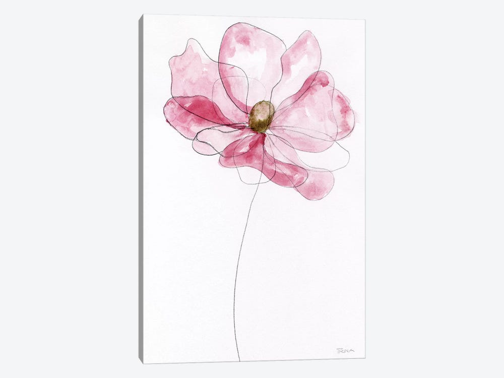 Sketchy Floral I by Katrina Craven 1-piece Canvas Artwork