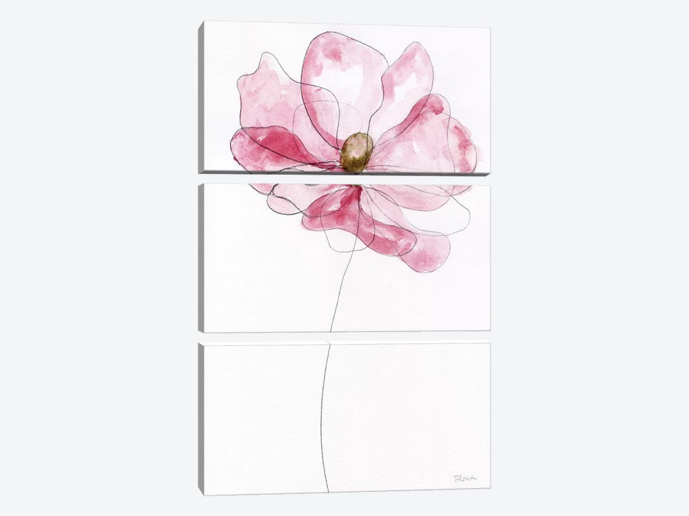 Sketchy Floral I by Katrina Craven 3-piece Canvas Wall Art