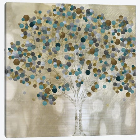 A Teal Tree Canvas Print #KAT53} by Katrina Craven Canvas Art