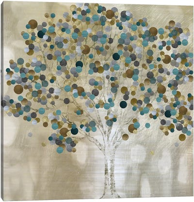 A Teal Tree Canvas Art Print