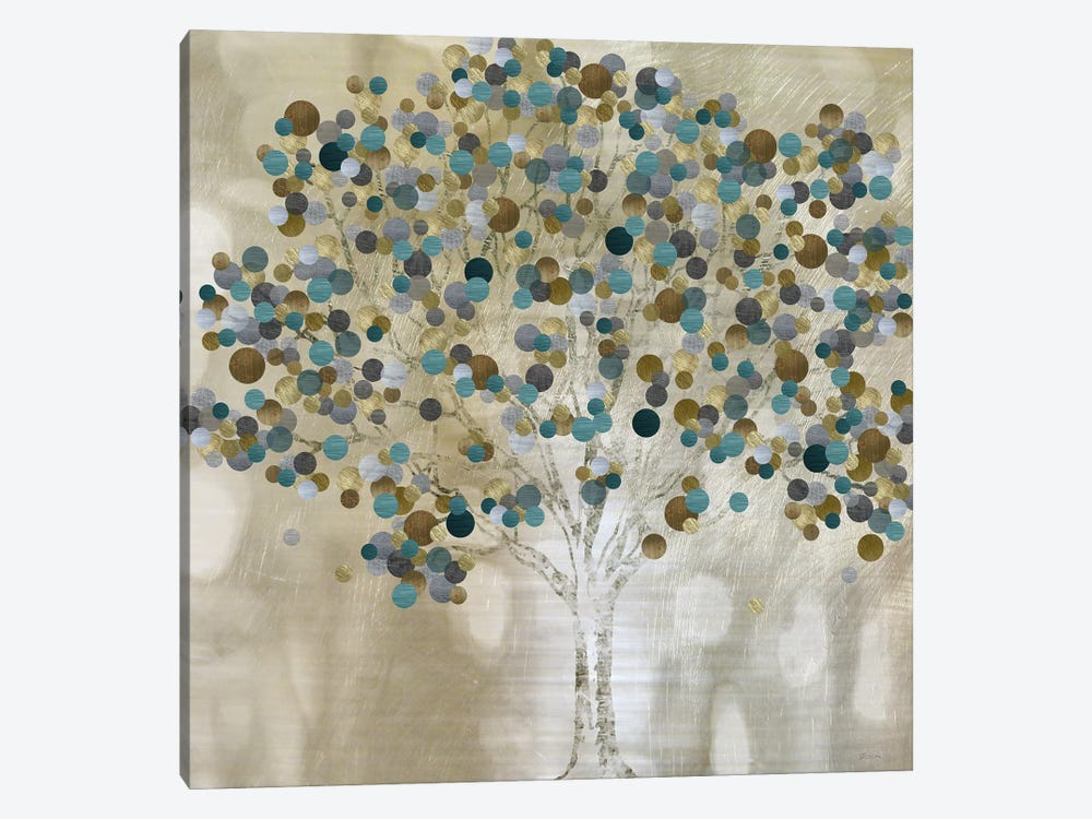 A Teal Tree by Katrina Craven 1-piece Canvas Art