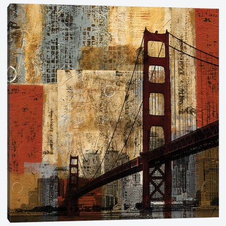 Bay Bridge Canvas Print #KAT54} by Katrina Craven Canvas Print