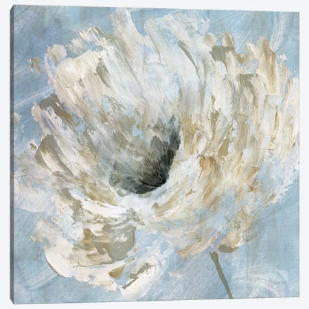 Blue Blanc I Canvas Print #KAT56} by Katrina Craven Canvas Print