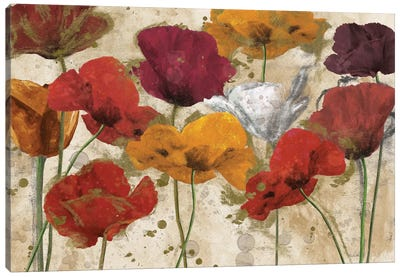 Happy Flowers Canvas Print #KAT5