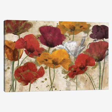 Happy Flowers Canvas Print #KAT5} by Katrina Craven Canvas Art Print