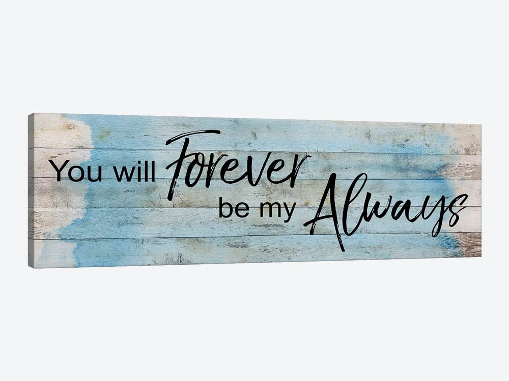 Forever Always by Katrina Craven 1-piece Canvas Art Print