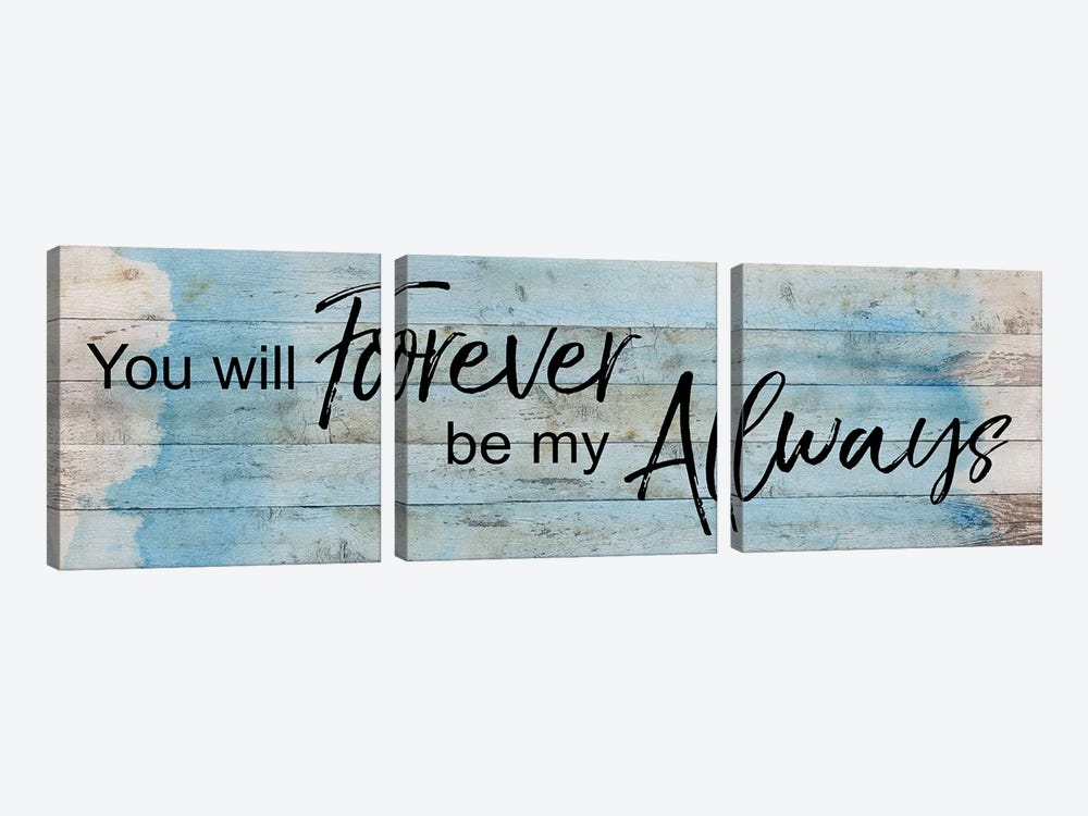 Forever Always by Katrina Craven 3-piece Canvas Print