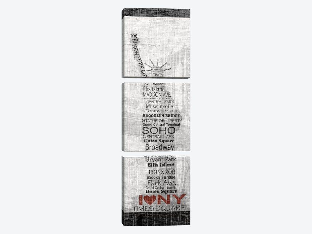 New York by Katrina Craven 3-piece Canvas Art Print