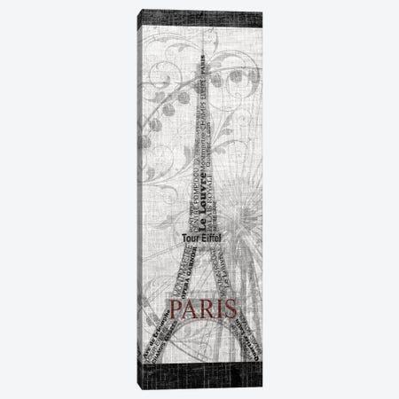 Paris Canvas Print #KAT64} by Katrina Craven Canvas Wall Art