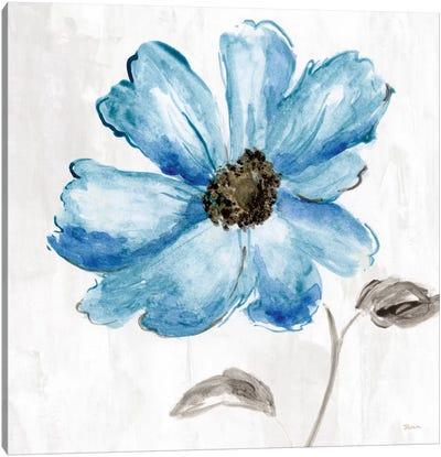 Blue Floral Canvas Art Print