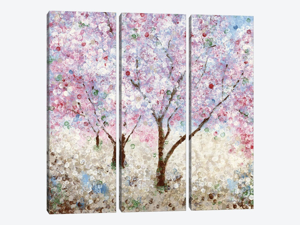 Cherry Blossom Festival II by Katrina Craven 3-piece Canvas Artwork