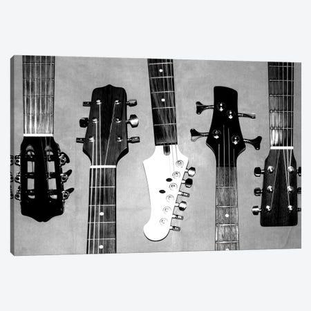 Guitar Head I 3-Piece Canvas #KAT81} by Katrina Craven Art Print