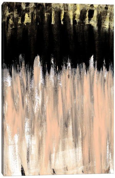 Peach Beige Ends Canvas Art Print