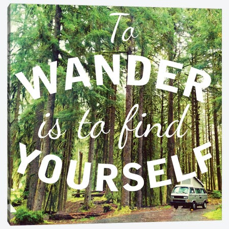 Wandering to Find Yourself Canvas Print #KAW5} by Kali Wilson Canvas Art