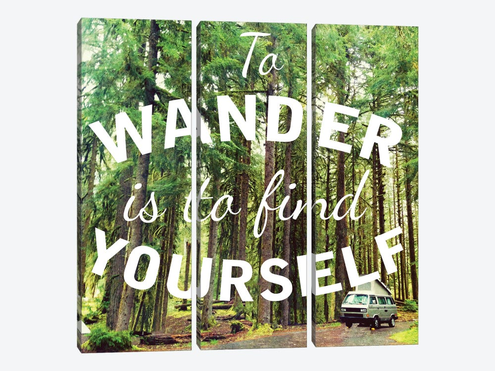 Wandering to Find Yourself by Kali Wilson 3-piece Art Print