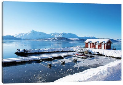 Fishing Dock on the Fjord Canvas Art Print
