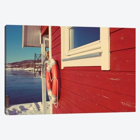 Lake House in Winter Canvas Print #KAW8} by Kali Wilson Canvas Art Print