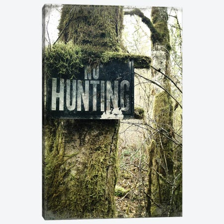 No Hunting Canvas Print #KAW9} by Kali Wilson Canvas Art Print