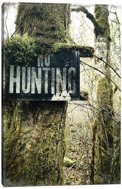 No Hunting Canvas Art Print