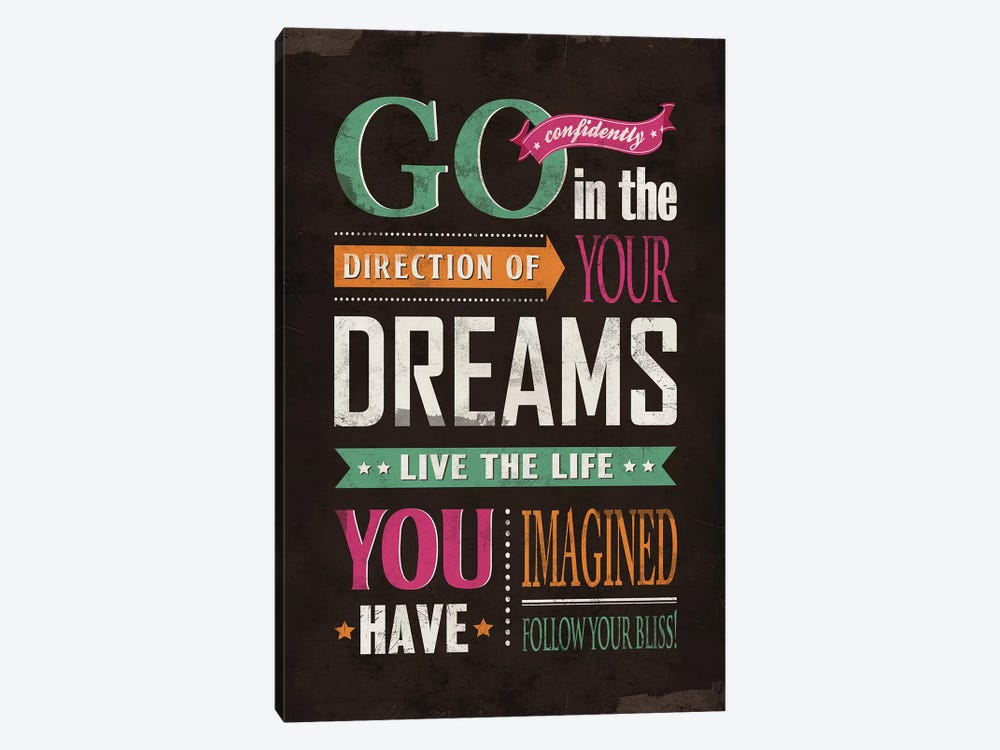 Go Confidently by Ester Kay 1-piece Canvas Wall Art