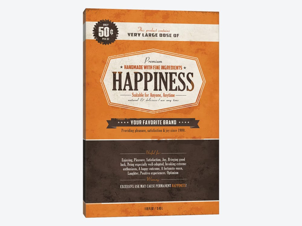 Happiness by Ester Kay 1-piece Canvas Wall Art