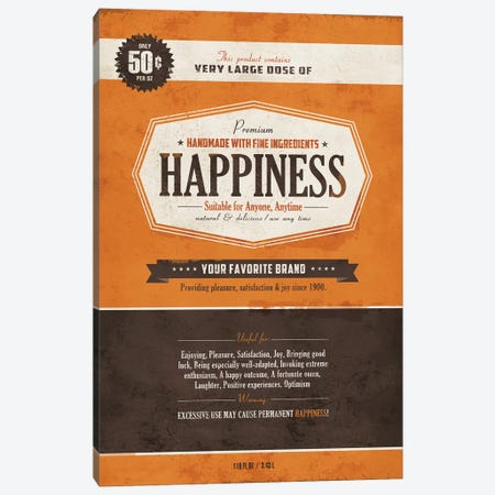 Happiness Canvas Print #KAY14} by Ester Kay Canvas Wall Art