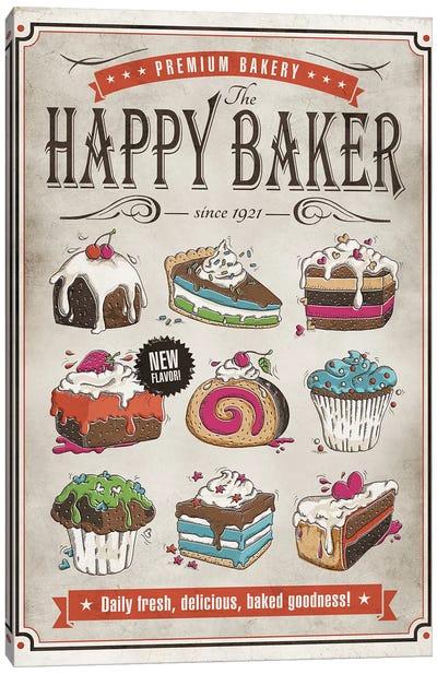 Happy Baker Canvas Art Print