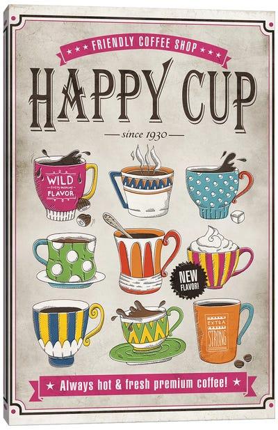 Happy Cup Canvas Art Print
