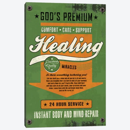 Healing Miracles Canvas Print #KAY19} by Ester Kay Art Print