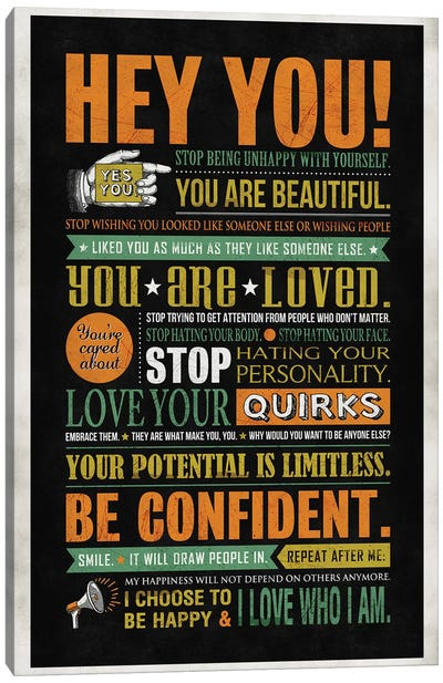 Hey You Canvas Art Print