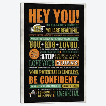Hey You Canvas Print #KAY20} by Ester Kay Canvas Artwork