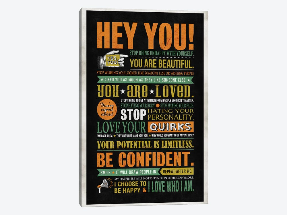 Hey You by Ester Kay 1-piece Canvas Print