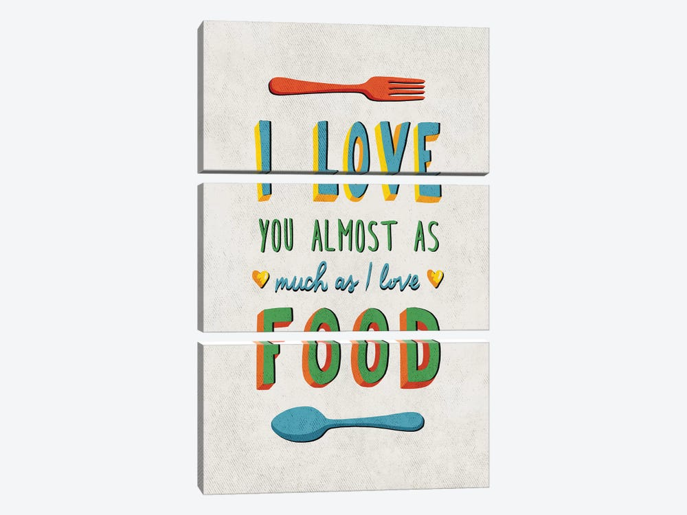 I Love Food by Ester Kay 3-piece Canvas Artwork