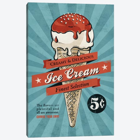 Ice Cream Canvas Print #KAY22} by Ester Kay Canvas Wall Art