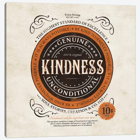 Kindness I Canvas Print #KAY24} by Ester Kay Canvas Print