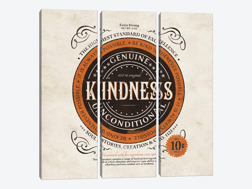 Kindness I by Ester Kay 3-piece Canvas Art Print