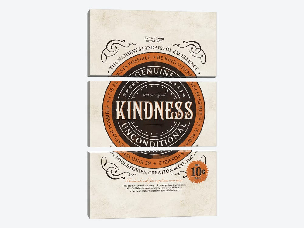 Kindness II by Ester Kay 3-piece Canvas Artwork