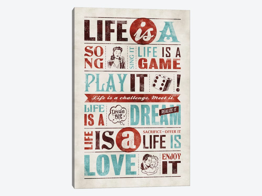 Life Is by Ester Kay 1-piece Canvas Art Print