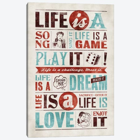Life Is 3-Piece Canvas #KAY26} by Ester Kay Art Print