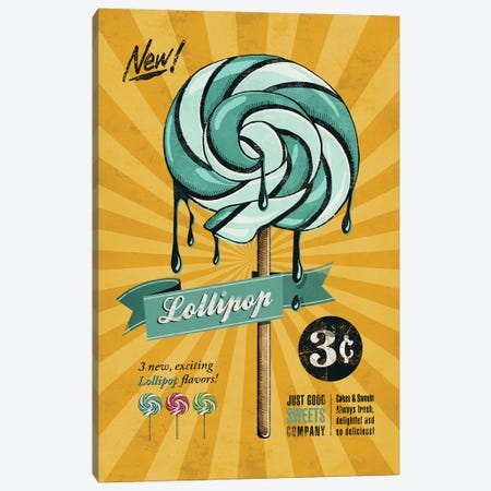 Lollipop Canvas Print #KAY27} by Ester Kay Canvas Art Print
