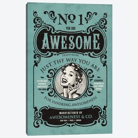 Awesomeness Canvas Print #KAY2} by Ester Kay Canvas Art Print