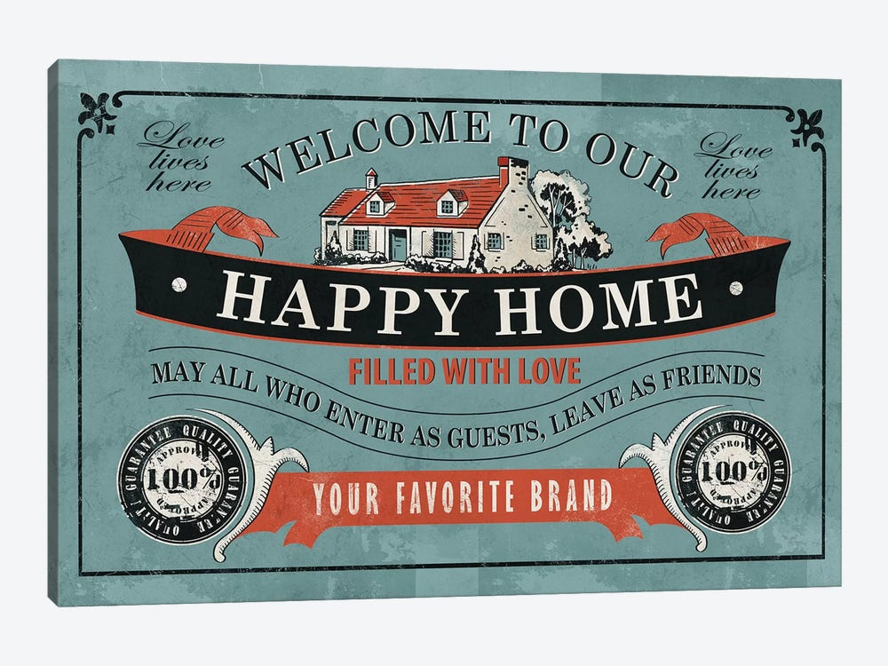 Our Home by Ester Kay 1-piece Canvas Art