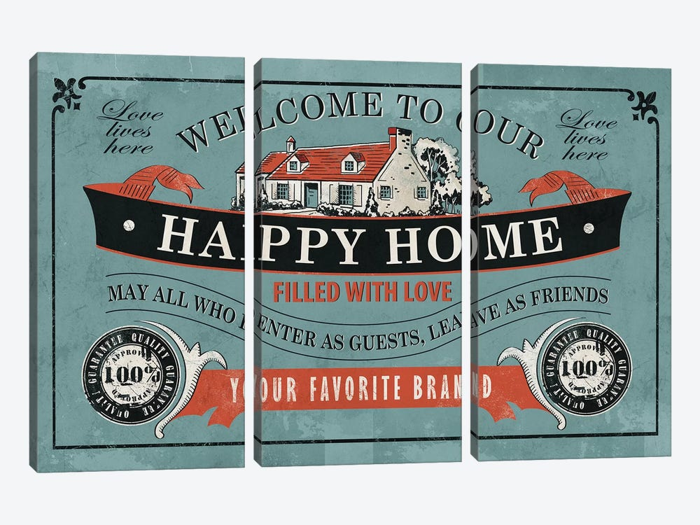 Our Home by Ester Kay 3-piece Canvas Art