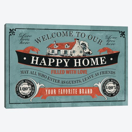 Our Home Canvas Print #KAY34} by Ester Kay Canvas Artwork