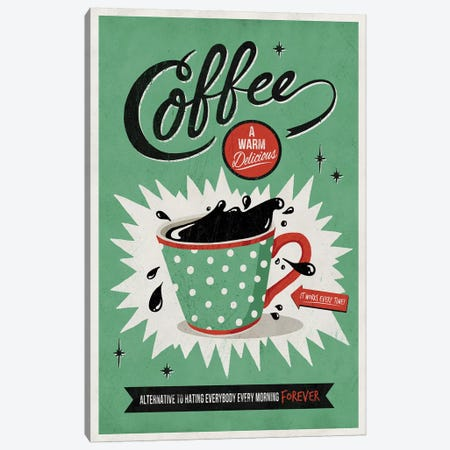 Saved By Coffee Canvas Print #KAY36} by Ester Kay Canvas Art