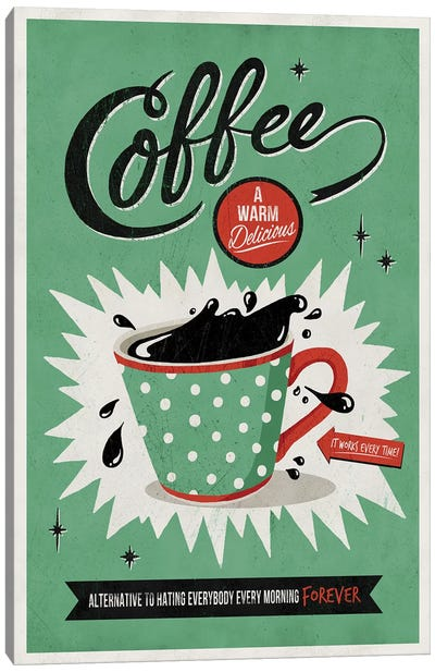 Saved By Coffee Canvas Art Print