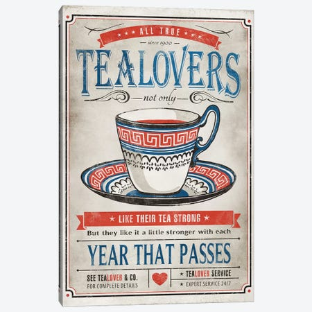 Tea Lovers Canvas Print #KAY39} by Ester Kay Canvas Art Print