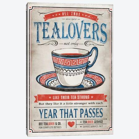 Tea Lovers Canvas Print #KAY39} by Ester Kay Canvas Art Print