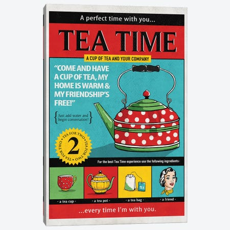 Tea Time Canvas Print #KAY40} by Ester Kay Canvas Art